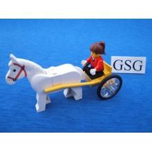 Paardenkar met poppetje nr. 12029-02