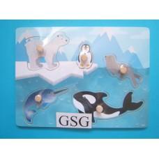 Legplankje arctische dieren nr. 608945-00
