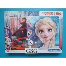 Frozen II jewels puzzel 104 st nr. 20164-01