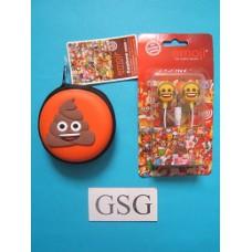 Oordopjes Emoji + opbergtasje nr. 50657-01