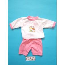 Baby Born pyama set nr. 50740-02 (wit/rose met eendje)