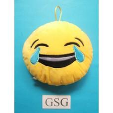 Emoji kussen lachend nr. 50701-02 (15 cm)