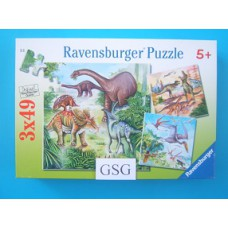 Fascinerende dinosauriërs 3x 49 st nr. 09 304 5-04