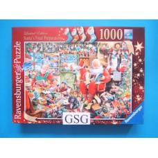 Santa's final preparations 1000 st nr. 19 558 9