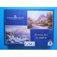 Conquering the storm & cobblestone village 2x 1000 st nr. 57490