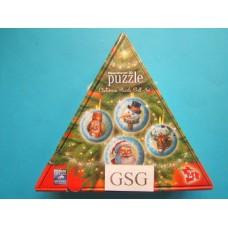 Christmas puzzle ball set 4x 27 st nr. 11 678 2-01
