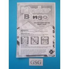 Kinder Bingo handleiding nr. 15887-303