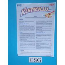 Kletschjjj... handleiding nr. 01446-303