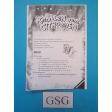 Knollen voor citroenen handleiding nr. 27 158 0-303