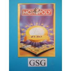 Monopoly Euro editie handleiding nr. 0299 05597 104-302