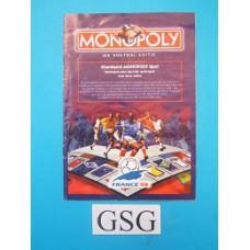 Monopoly WK 98 voetbal editie handleiding nr. 19618 104-302