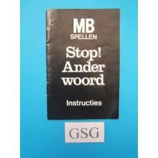 Stop ander woord handleiding nr. 4316-XNL379-302