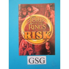 The Lord of the Rings Risk handleiding nr. 0702 46233 104-302