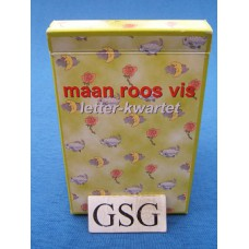 Maan roos vis letter-kwartet nr. 60003-01