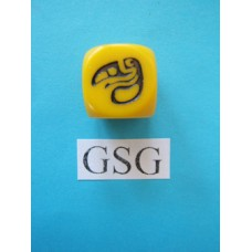 Dobbelsteen Perudo geel nr. 61112-02
