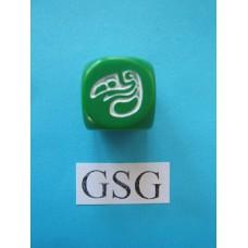 Dobbelsteen Perudo groen nr. 61114-02