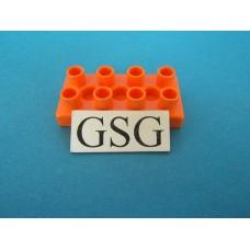 Steen oranje 4x2 plat nr. 16388