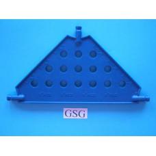 Driehoekplaat 130 mm blauw nr. 16063