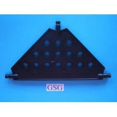 Driehoekplaat 130 mm zwart nr. 16064