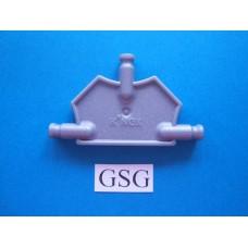 Driehoekplaat 55 mm grijs nr. 16053