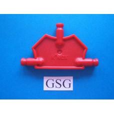 Driehoekplaat 55 mm rood nr. 16056