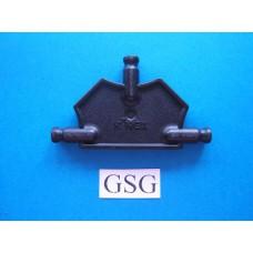 Driehoekplaat 55 mm zwart nr. 16054