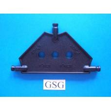Driehoekplaat 85 mm zwart nr. 16060