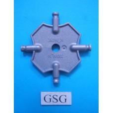 Vierkantplaat 55 mm grijs nr. 16483