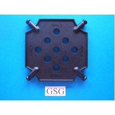 Vierkantplaat 85 mm zwart nr. 16068