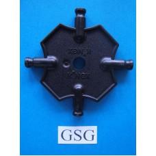 Vierkantplaat 55 mm zwart nr. 16070