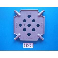 Vierkantplaat 85 mm grijs nr. 16069
