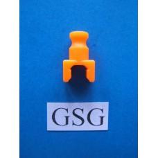 Scharnierkoppeling recht oranje fluoriserend nr. 16087