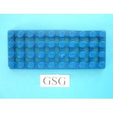 Grondplaat 10x4 (F2) blauw nr. 16511