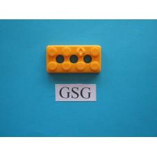 Grondplaat 4x2 (F1) geel nr. 16327