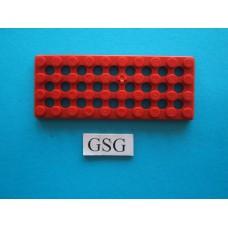 Grondplaat 10x4 (F2) rood nr. 16268