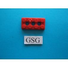 Grondplaat 4x2 (F1) rood nr. 16265