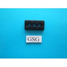 Grondplaat 4x2 (F1) zwart nr. 16266