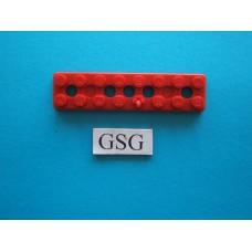 Grondplaat 8x2 (F4) rood nr. 16267