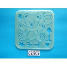 Tekensjabloon beer buiten spelen nr. 4660-02