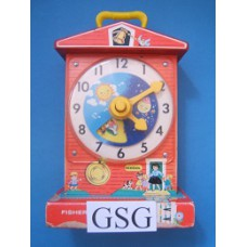 Music box teaching clock nr. 998-03