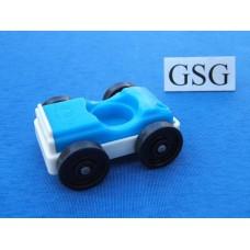 Auto vintage blauw-wit nr. 2042-02