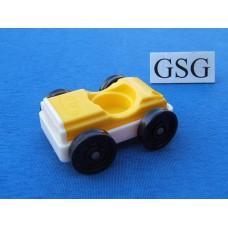 Auto vintage geel-wit nr. 2043-02