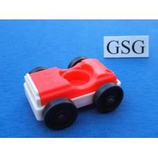 Auto vintage rood-wit nr. 2045-02
