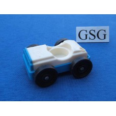 Auto vintage wit-blauw nr. 2046-02