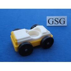 Auto vintage wit-geel nr. 2047-02