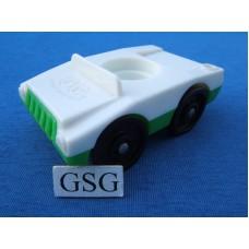 Auto vintage wit-groen groot nr. 2061-02
