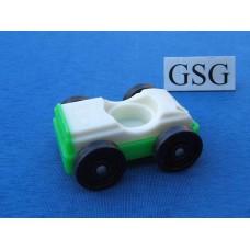 Auto vintage wit-groen nr. 2048-02
