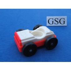 Auto vintage wit-rood nr. 2049-02