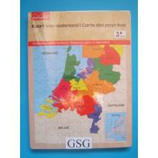Kaart van Nederland 96 st nr. AB6464-01