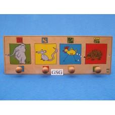 Kapstok dieren nr. 16410-02